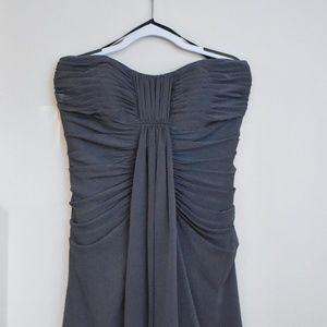 Dresses & Skirts - Dusty Indigo Strapless Knee-length Dress